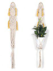 Hand-knitted Macrame Plant Hanger Wall Hanging -