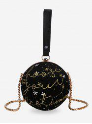 Patchwork Chain Ball Shaped Crossbody Bag with Handle -