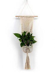 Hand-knitted Macrame Plant Hanger Wall Hanging Decoration -