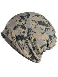 Stylish Digital Camouflage Printed Open Top Beanie -