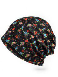 Vintage Flourishing Floral Lace Slouchy Beanie -