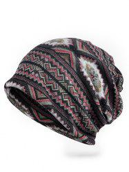 Vintage Wave Pattern Stretchy Slouchy Beanie -