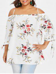 Plus Size Cold Shoulder Bohemian Blouse -