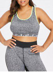 Plus Size Marled Sports Bra -