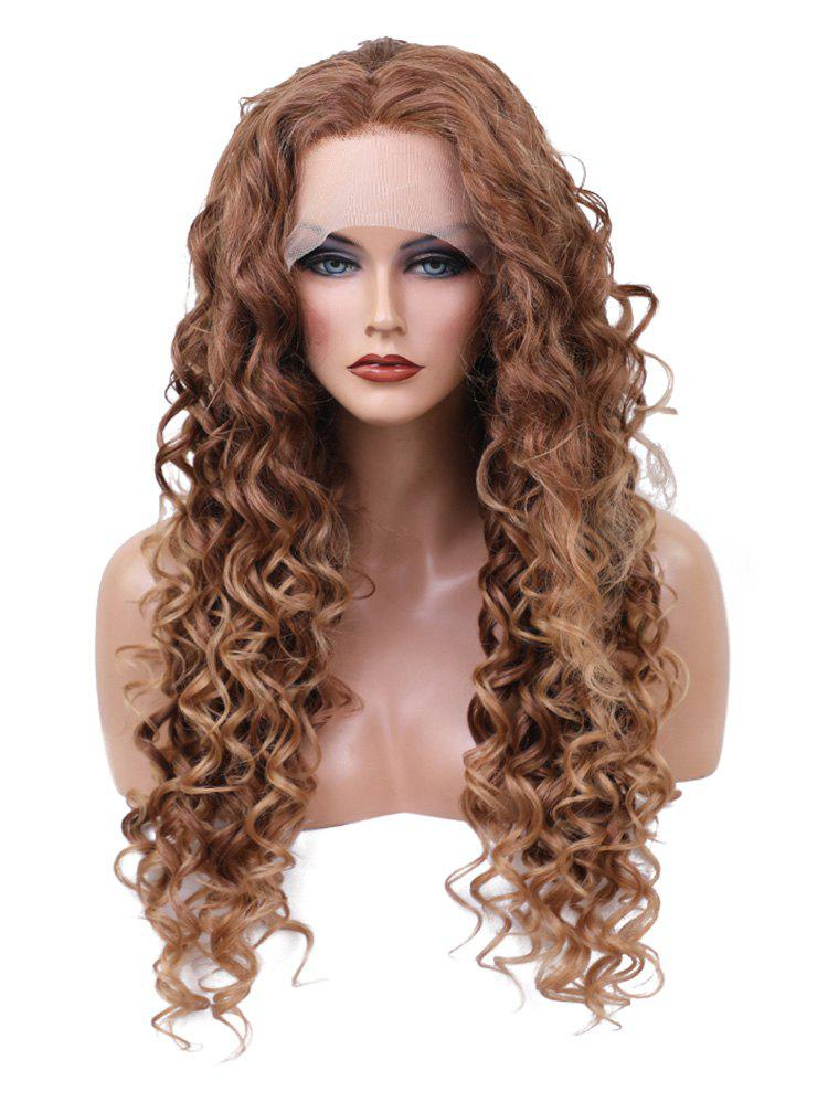 Shop Long Free Part Curly Wavy Synthetic Lace Front Wig