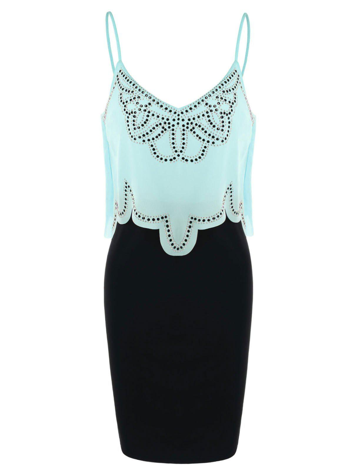 Chic Butterfly Bodycon Popover Dress