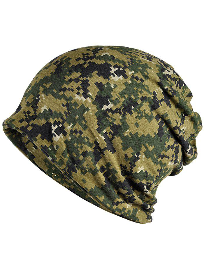 Cheap Stylish Digital Camouflage Printed Open Top Beanie
