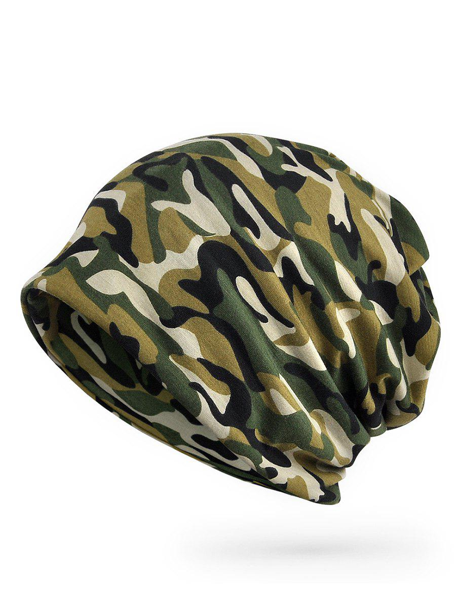 Fashion Camo Printed Open Top Slouch Beanie
