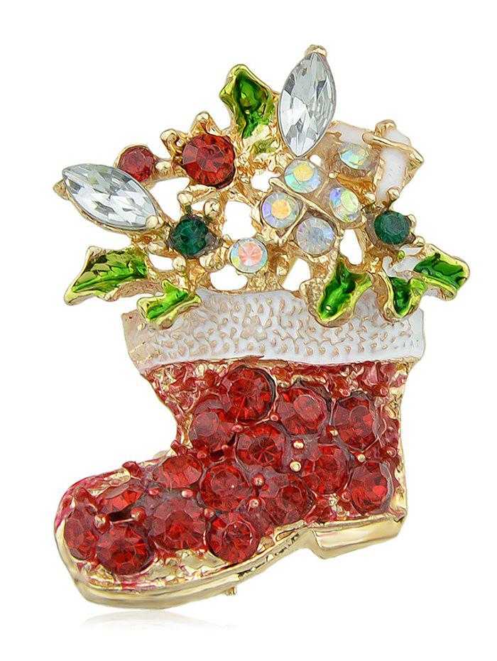 Best Faux Crystal Christmas Shoes Brooch