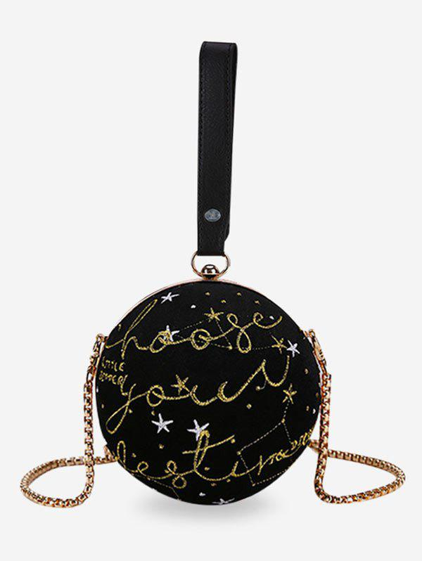 New Patchwork Chain Ball Shaped Crossbody Bag with Handle
