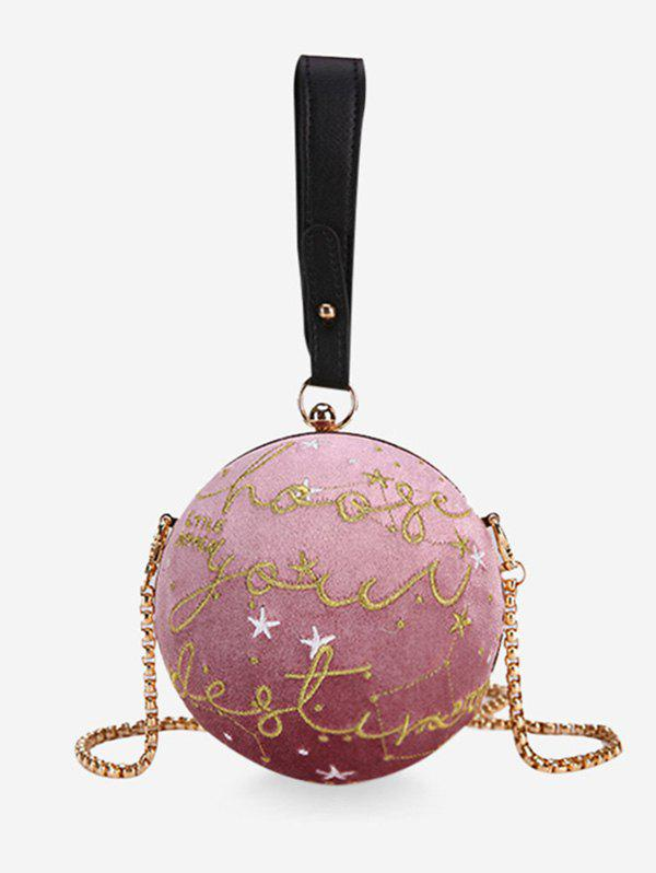 Shop Patchwork Chain Ball Shaped Crossbody Bag with Handle