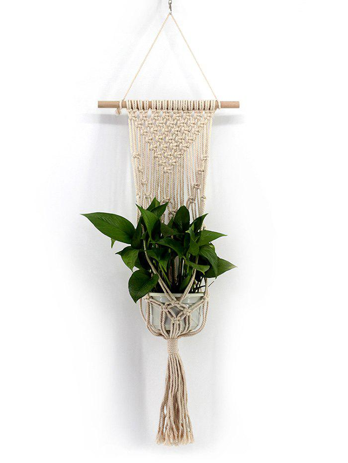 Latest Hand-knitted Macrame Plant Hanger Wall Hanging Decoration