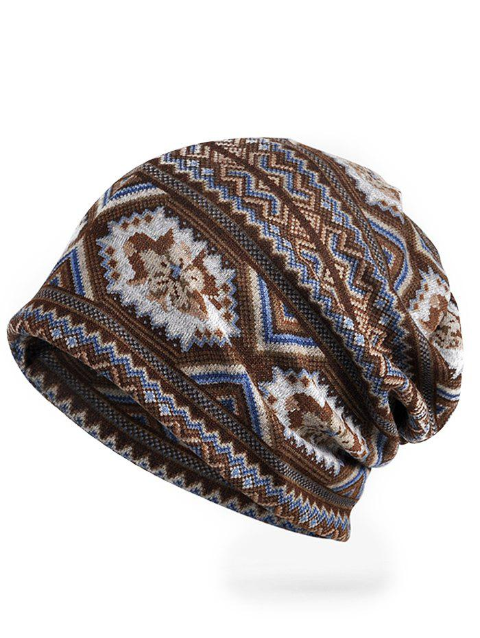 Chic Vintage Wave Pattern Stretchy Slouchy Beanie