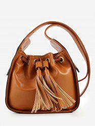 PU Leather Tassels Minimalist Sling Bag -