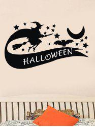 Halloween Witch Print Wall Stickers for Bedroom -