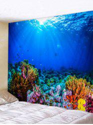 Underwater World Printed Tapestry Wall Art Decoration -