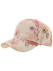 Flourishing Floral Printed Adjustable Snapback Hat -