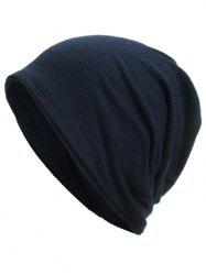 Soft Vertical Striped Pattern Slouch Beanie -