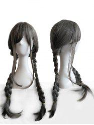 Long Side Bang Straight Braids Anime Cosplay Synthetic Wig -