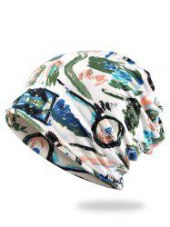 Unique Hand-painted Pattern Slouchy Beanie -