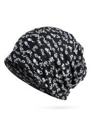 Flourishing Flowers Printed Slouch Beanie -