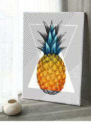 Pineapple Print Canvas Painting with Frame -