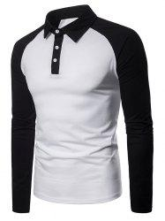 Panel Raglan Sleeve T Shirt -
