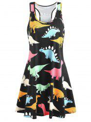 Plus Size Dinosaur Racerback Dress -