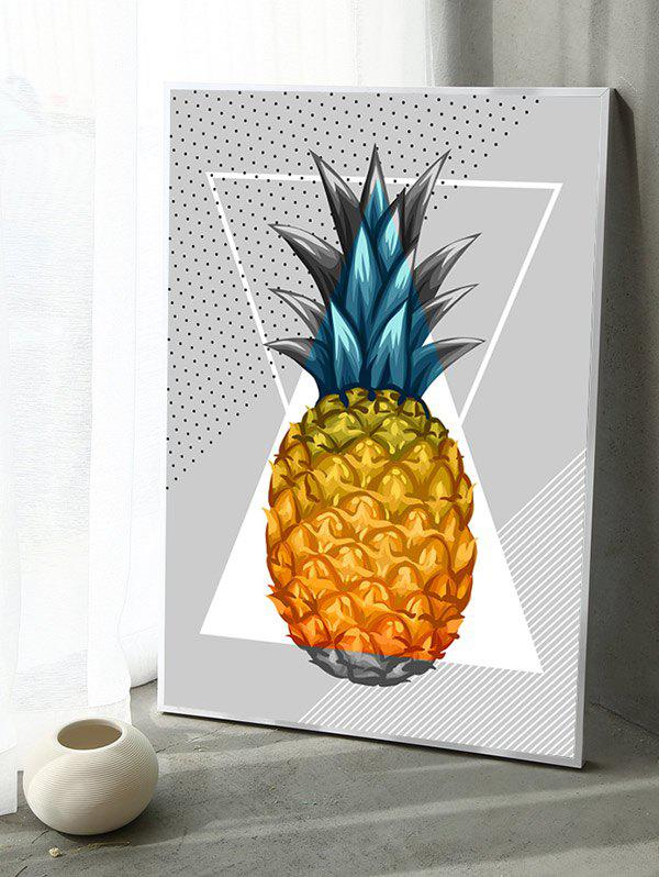 Fashion Pineapple Print Canvas Painting with Frame