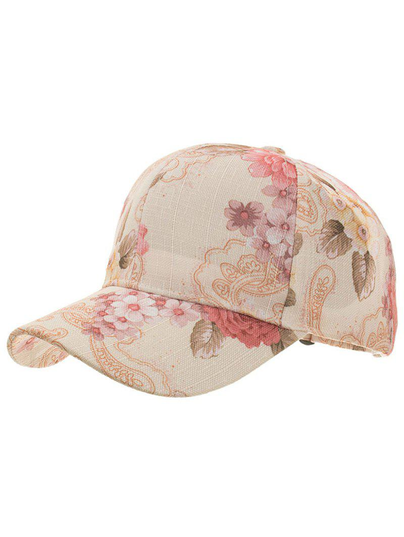 Shops Flourishing Floral Printed Adjustable Snapback Hat