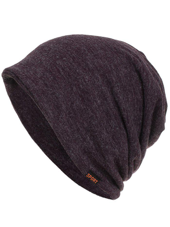 Hot Simple Sport Label Open Top Beanie