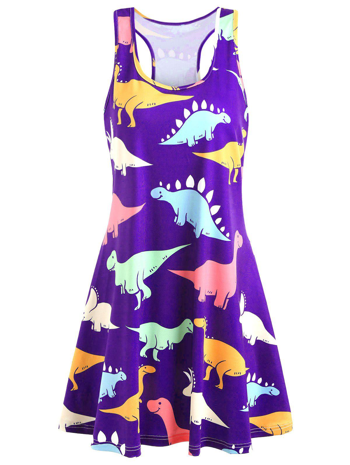 New Plus Size Dinosaur Racerback Dress