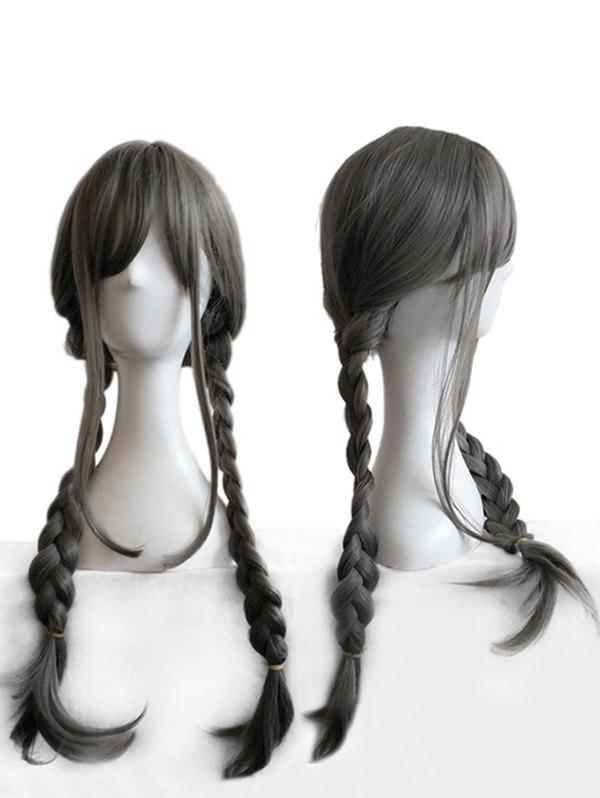 Outfits Long Side Bang Straight Braids Anime Cosplay Synthetic Wig