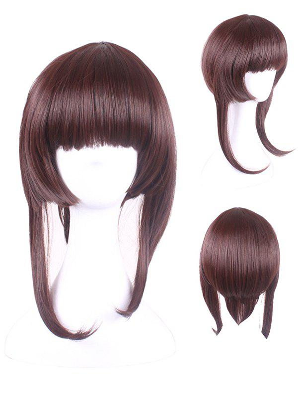 Online Short Neat Bang Straight Game Characters Cosplay Synthetic Wig