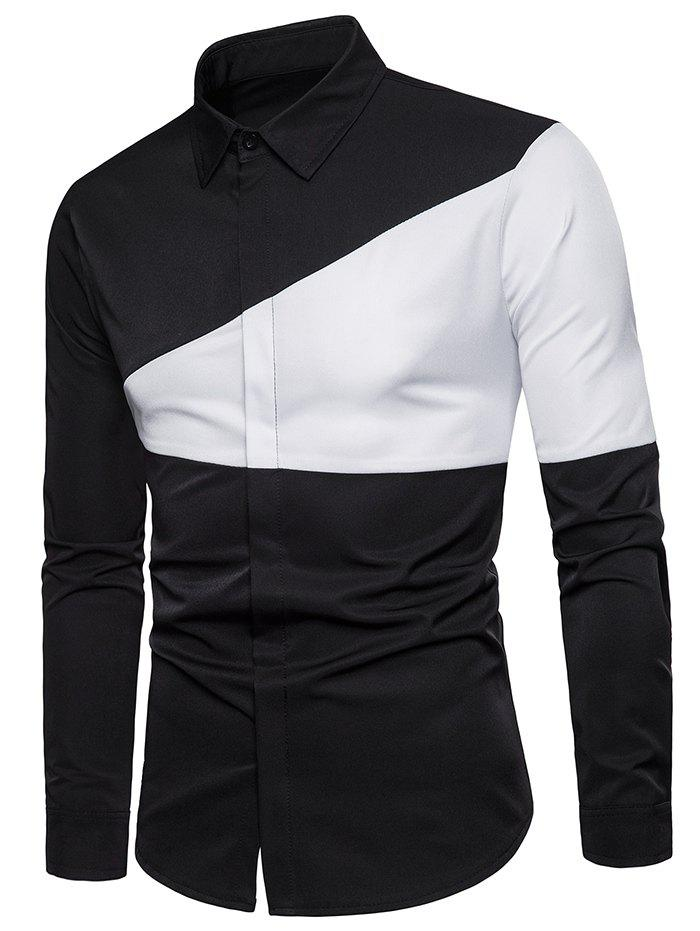 Affordable Casual Color Block Long Sleeve Shirt