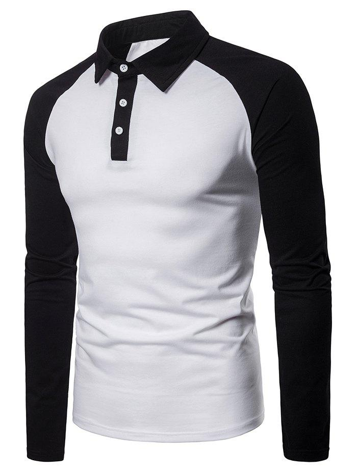 Fancy Panel Raglan Sleeve T Shirt