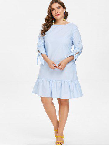 Light Blue Plus Size Dress Free Shipping Discount And Cheap Sale