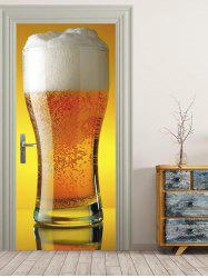 Big Cup Beer Print Door Decals -