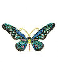 Butterfly Shaped Rhinestone Brooch -