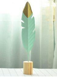 Metal Feather Home Figurine Decor -