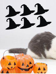 Halloween Witch Hat Print Wall Stickers for Bedroom -