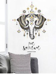 Elephant Print Wall Stickers for Bedroom -