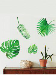 Leaf Printed Removable Wall Stickers -