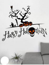 Happy Halloween Tree Print Wall Stickers for Bedroom -