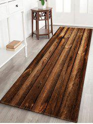 Wooden Printed Water Absorption Area Rug -