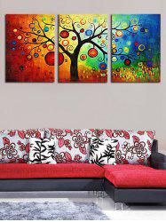 Unframed Colorful Tree Printed Canvas Paintings -