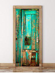Broken Wood Board Printed Door Decals -