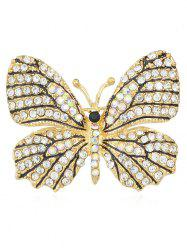 Full Rhinestone Butterfly Brooch -