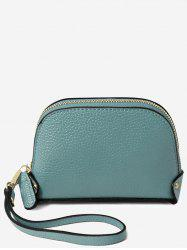Faux Leather Casual Mini Wristlet Bag -