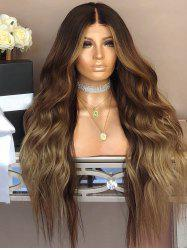 Long Middle Part Colormix Wavy Party Synthetic Wig -